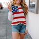Jessi Flag Pattern Knit Top