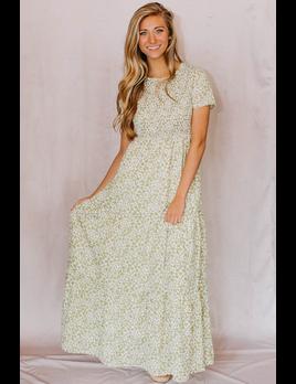 Ces Femme Kelsey Smocked Maxi Dress