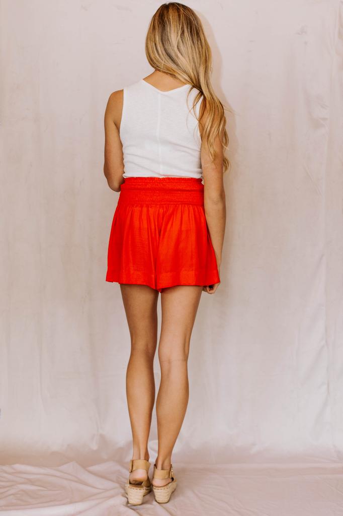 Smocked Waist Shorts