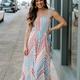 Striped Ruffled Maxi Dress