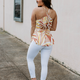 Peplum Tank with Ruched Back