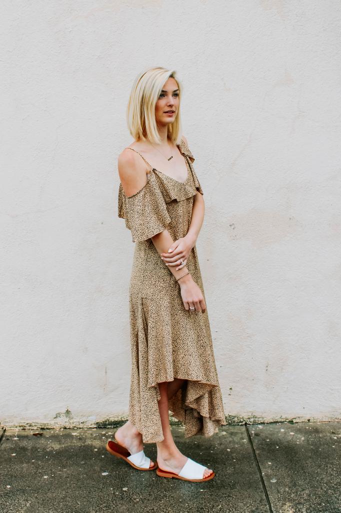 Ces Femme Animal Print Asymmetrical Midi Dress
