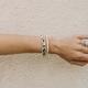 Leopard and Glass Bracelet
