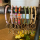 Rubber Beads Key Ring Bracelet