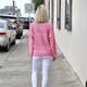 She & Sky V-Neck Knit Sweater Top