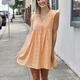 Eyelet Babydoll Mini Dress