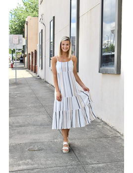 The Sanur Stripe Maxi Dress