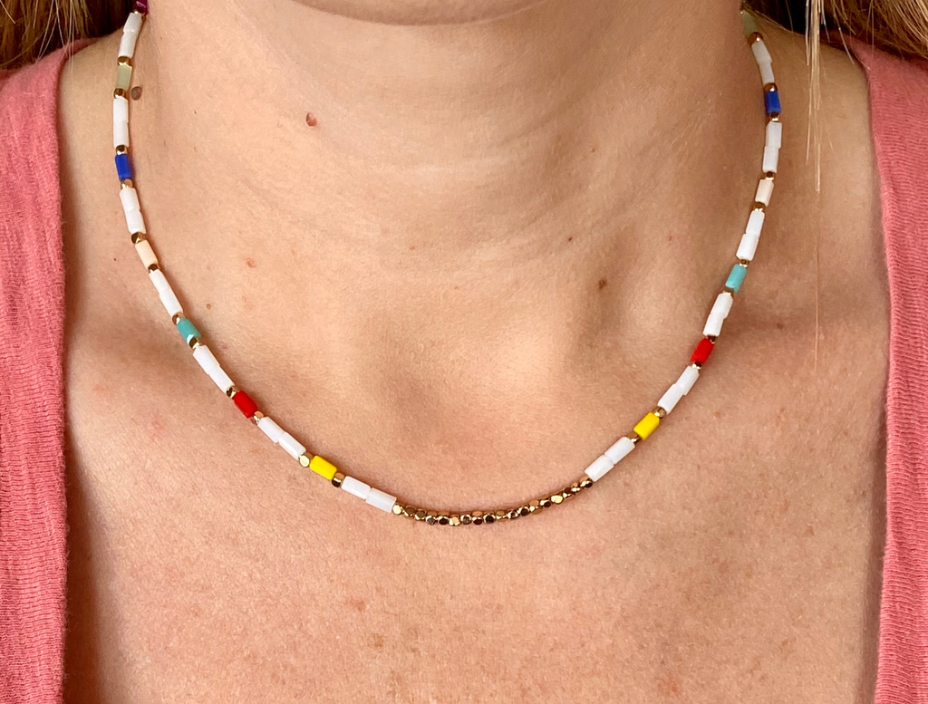 Rectangle Beaded Choker