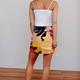 Karlie Palm Springs Leaf Button Skirt