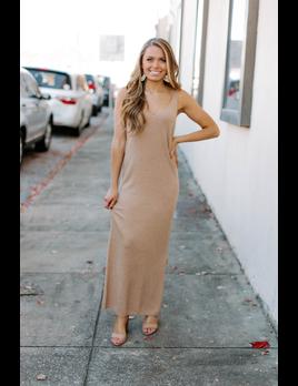 Karlie Solid Sweater Tank Midi Dress