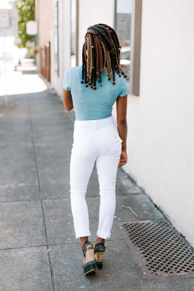 Karlie Solid V-Neck Bodysuit