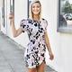 Karlie Leopard Wrap Bottom Dress