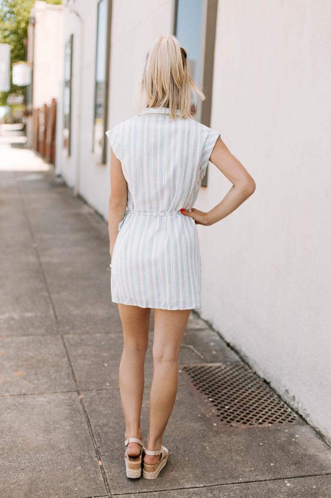 Karlie Stripe Multi Wrap Dress
