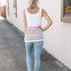 Multicolor Stripes Knit Tank Top