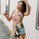 Karlie Palm Smock Cami Dress