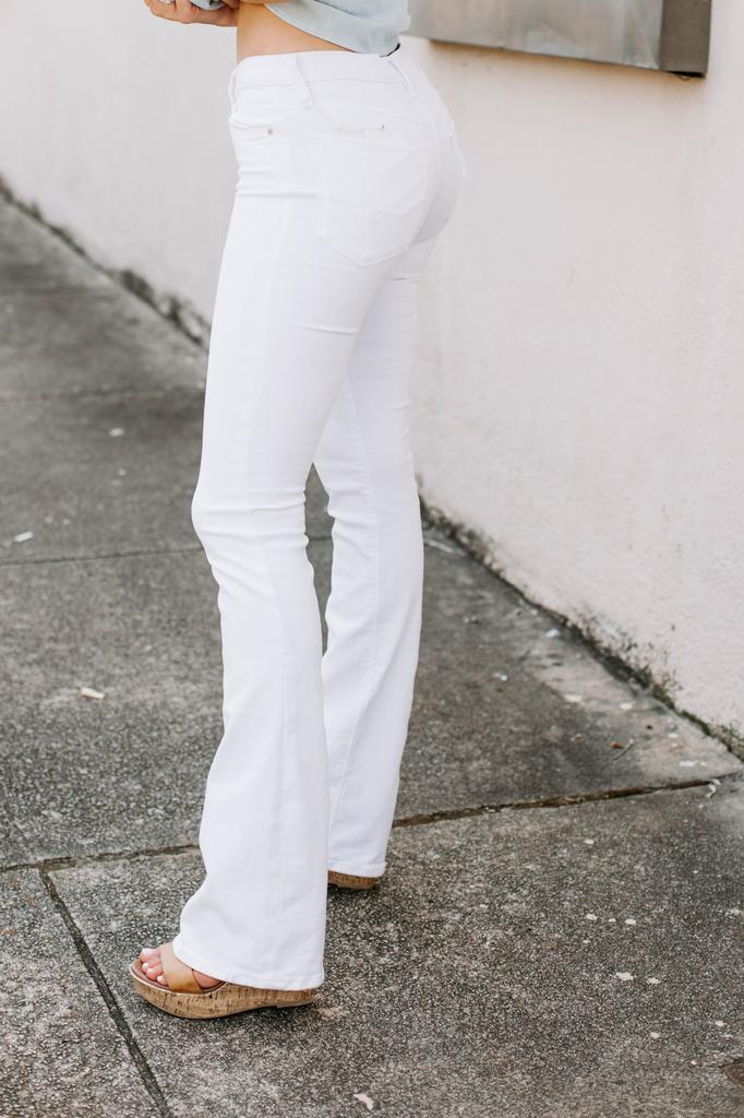 Hudson Nico Midrise Bootcut Jean in White 2
