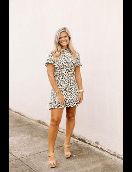 Karlie Leopard Smock Dress