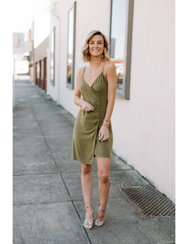 Karlie Linen Button Cami Dress