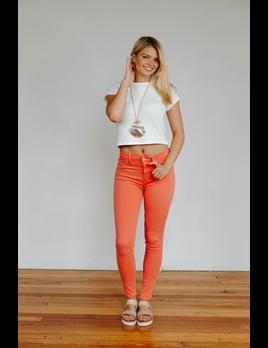 Hudson Barbara High Rise Super Skinny Jean in Flamingo
