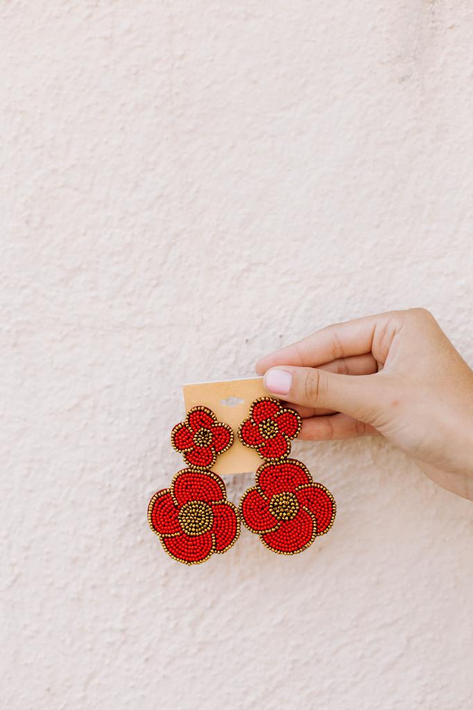 Beaded Blossom Earrings