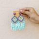 Square and Multi Tassel Earrings