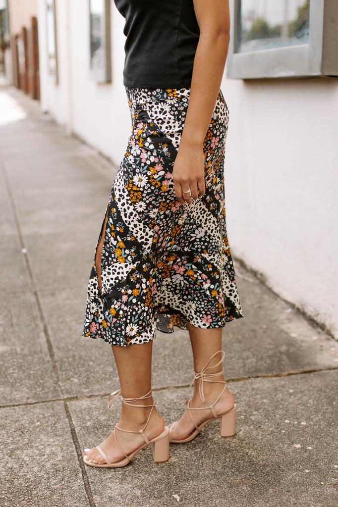 Luca Floral Midi Skirt