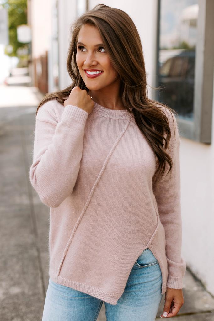 Asymmetric Slit Detail Sweater