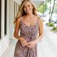 Karlie Leopard Cami Wrap Dress