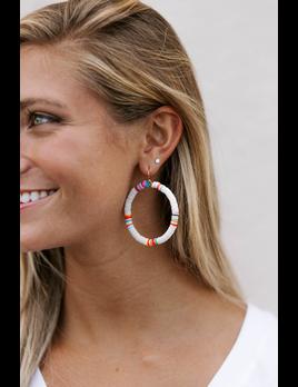Rubber Bead Circle Earrings