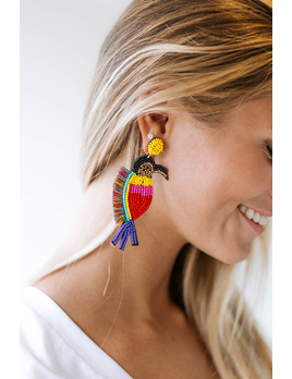 Fringed Bird Earrings