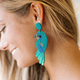 Beaded Parrot Earrings