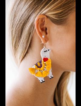 Tasseled Llama Earrings
