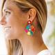 Multi Bead Flower Earrings