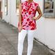 Karlie Floral Ruffle Sleeveless Top