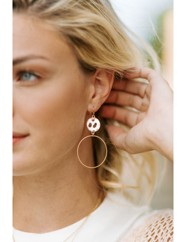 Leopard Disc and Circle Earrings