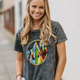 Funk Rainbow Mineral Washed Graphic Tee