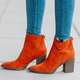 Snatch-01 Western Suede Booties