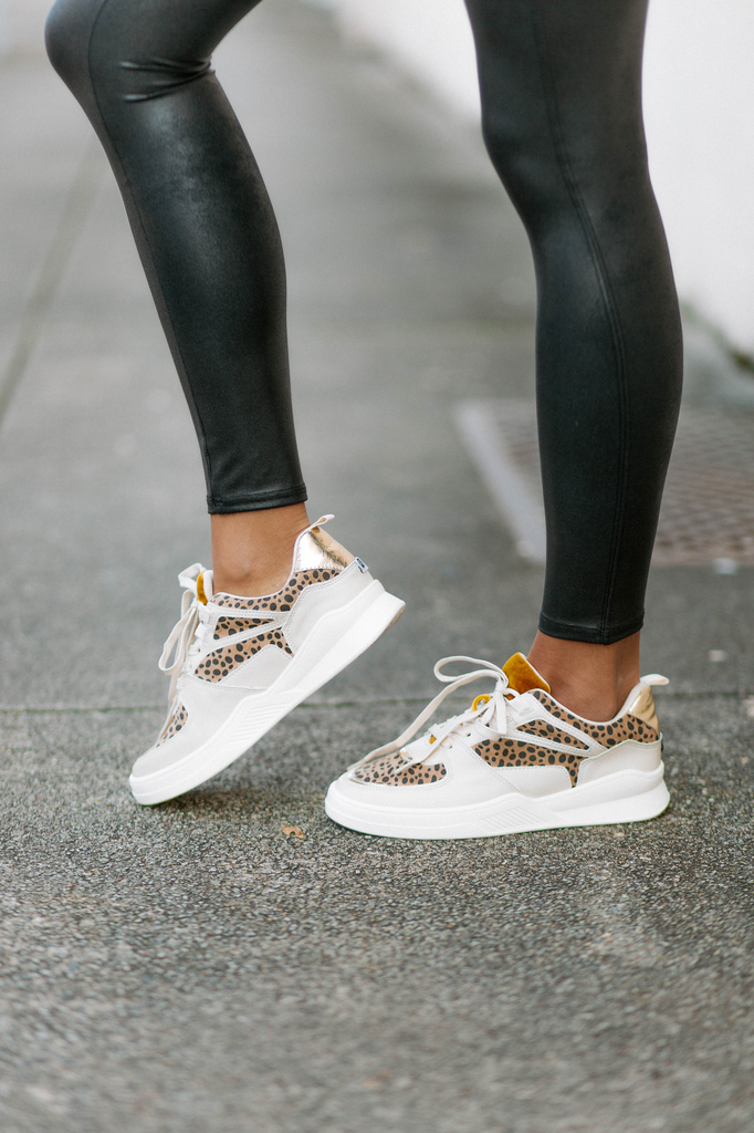 Behave Leopard Print Sneakers