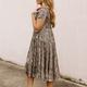 Karlie Snake Midi Boho Tier Dress
