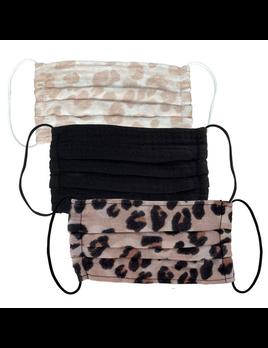 Cotton Mask 3 Piece Set - Leopard