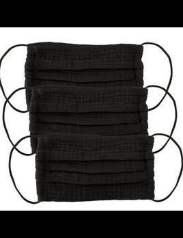 Cotton Mask 3 Piece Set - All Black