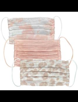 Cotton Mask 3 Piece Set - Blush