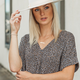 Karlie Leopard Knit V-Neck Signature Top