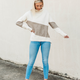 Turtleneck Sweater with Middle Stripe Detail