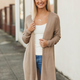 Knit Cardigan with High Side Slits