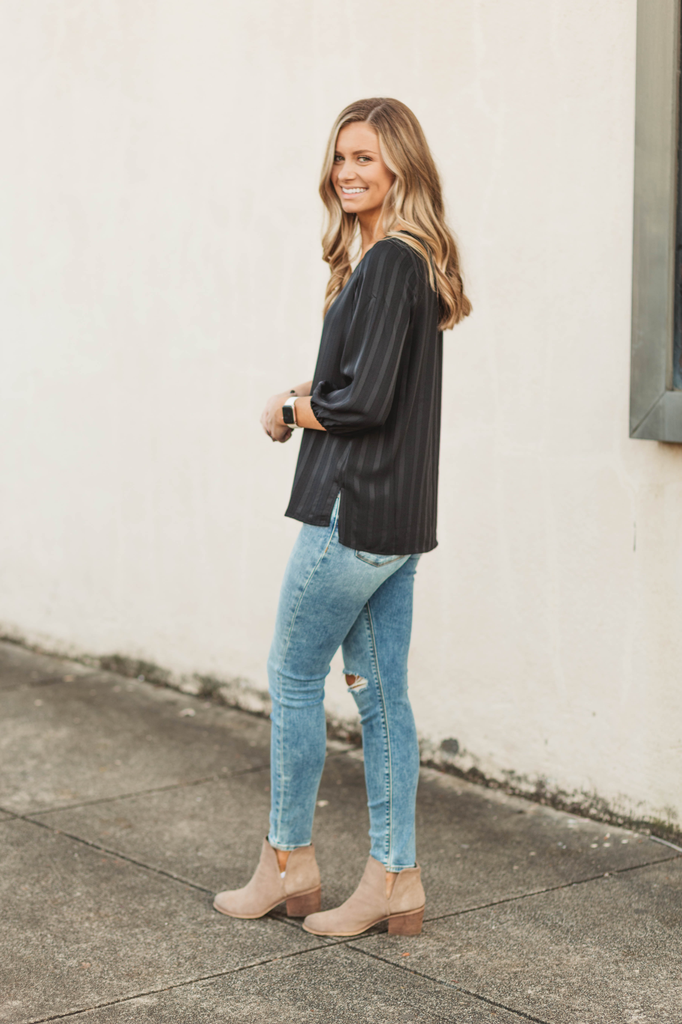 Skies Are Blue Woven Wide Neck Top