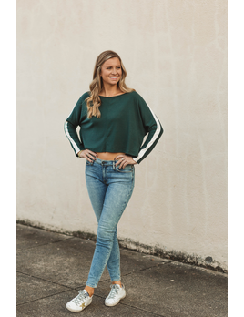 Glam Dolman Sleeve Color Block Top