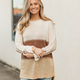 Color Blocked Tunic Sweater