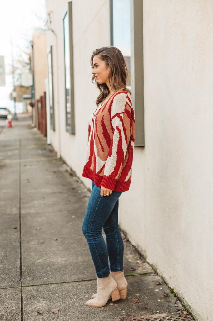 Swirls Of Camo Sweater