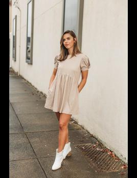Very J Twist Sleeve Knit Mini Dress